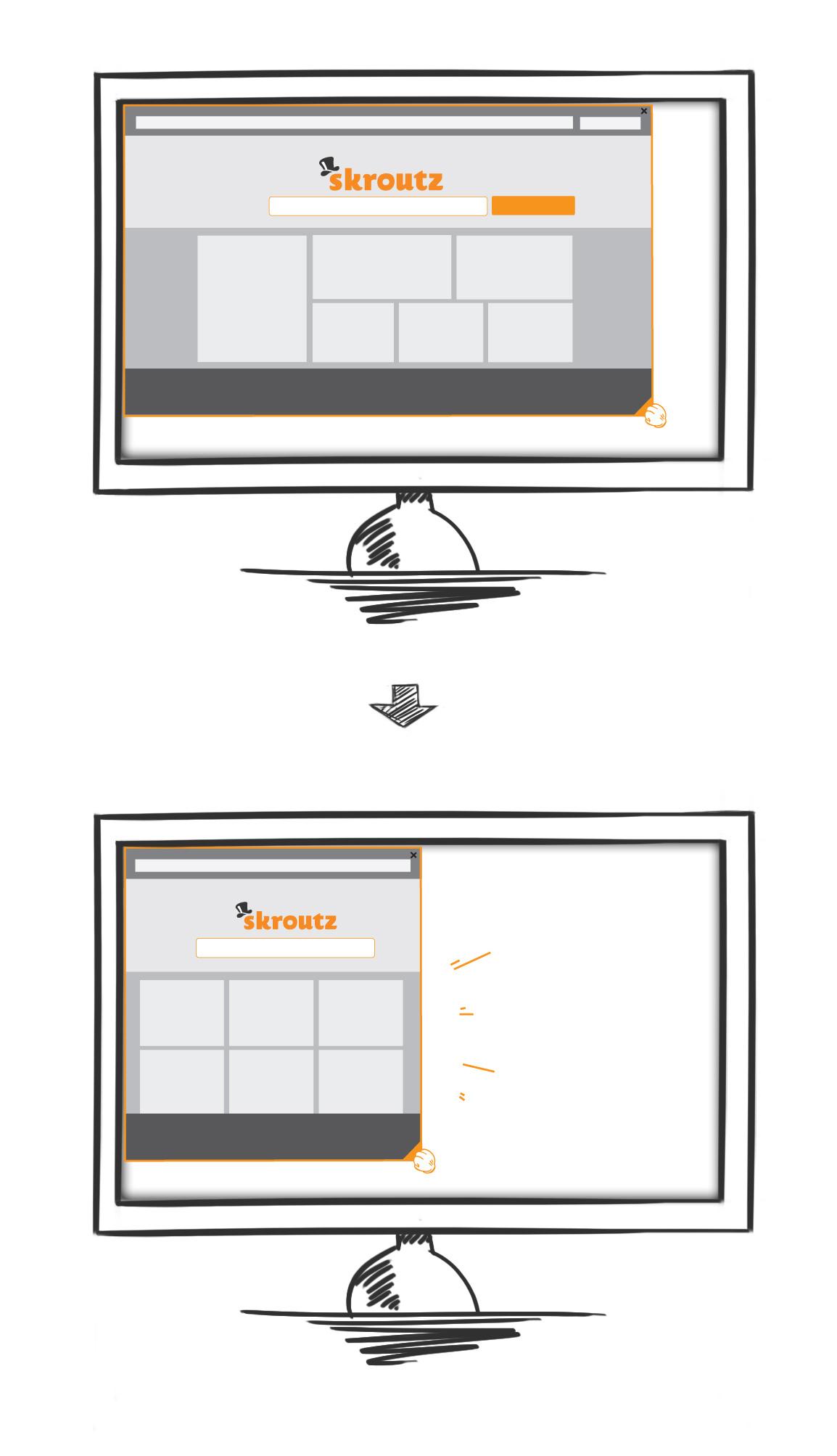 Skroutz Responsive Web Design Resize