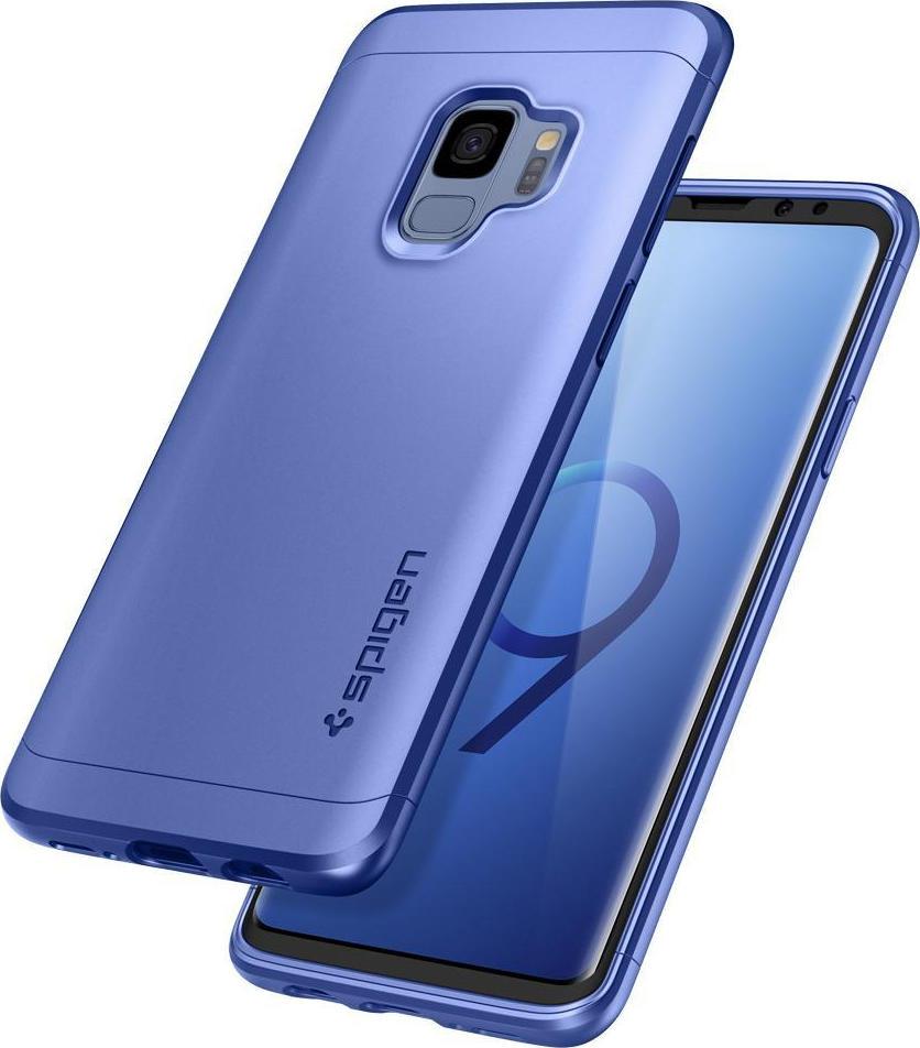 great fit 3778f 3e17a Spigen Case Thin Fit 360 Coral Blue (Galaxy S9)