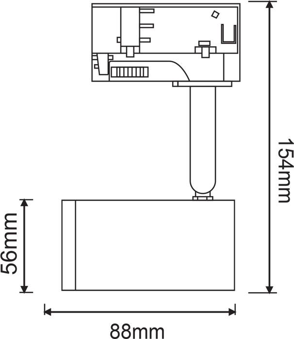 Aca TS68GU3CG | Σποτ Οροφής & Τοίχου V6S3fAvy