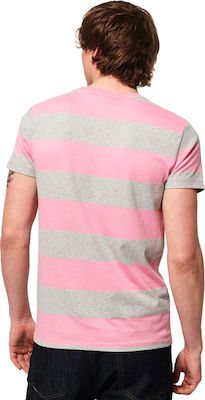 Superdry Collective M10163SU-T4B Prep Pink Stripe