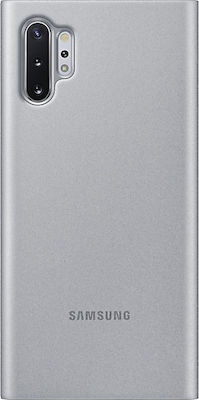 Samsung Clear View Cover Ασημί (Galaxy Note 10+)