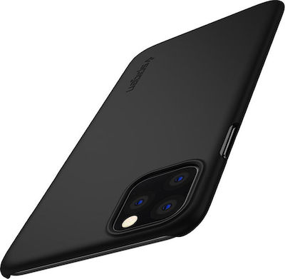 Spigen Thin Fit Back Cover Σιλικόνης Μαύρο (iPhone 11)