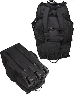 Mil-Tec Combat Duffle Bag with Wheels Black 118lt