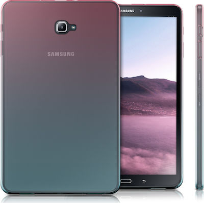 KW Soft Flexible Back Cover Dark Pink / Blue / Transparent (Galaxy Tab A 10.1 2016)