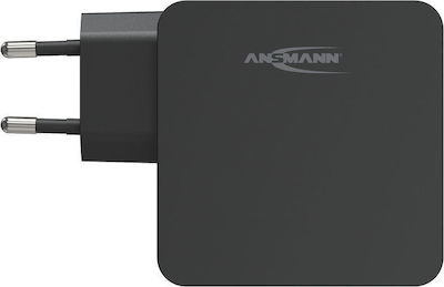Ansmann USB & USB-C Wall Adapter Μαύρο (254PD)