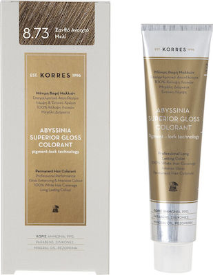 Korres Abyssinia Superior Gloss Colorant 8.73 Ξανθό Ανοιχτό Μελί 50ml
