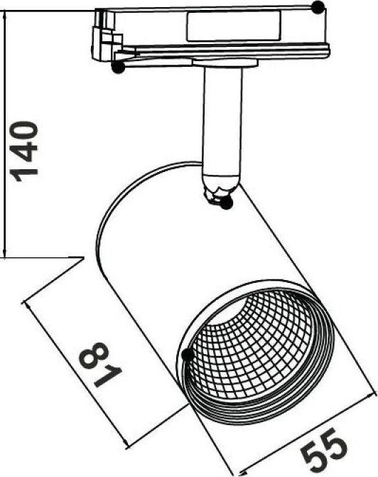 Aca ZUNO1230B250 | Σποτ Οροφής & Τοίχου WGNkHgrn