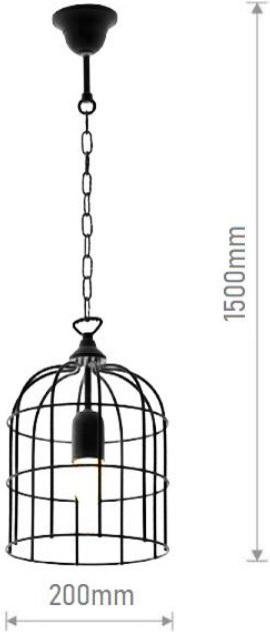 Elmark Cage 955CAGE1/BL   Κρεμαστά Φωτιστικά Οροφής XGRAgvYf