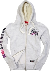 Body Action Fur Lined Hoodie 071616-White