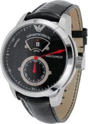 Emporio Armani Meccanico Black Leather Strap AR4602