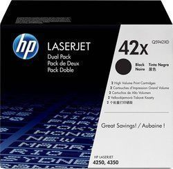 HP 42X Black High Yield 2-pack Toner (Q5942XD)