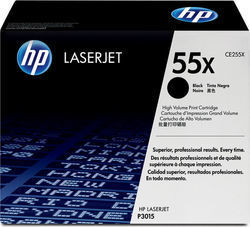 HP 55X Black High Yield Toner (CE255X)