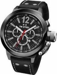 TW Steel Ceo Collection Chronograph Black Leather Strap XL CE1034