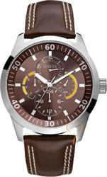 Guess Sport Calendar Brown Leather Strap W95046G2