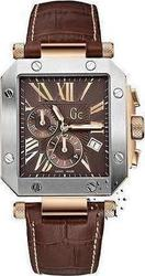 Guess Brown Leather Strap Chronograph I50001G1