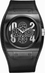 Guess Sport Calendar Black Leather Strap W15506G1