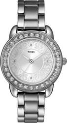 Timex Stainless Steel Bracelet Crystal Ladies T2N131