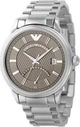 Emporio Armani Silver and Cr Stainless Steel AR0563