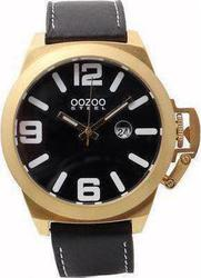 Oozoo STEEL XXL Black Leather Strap OS103