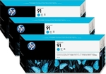 HP 91 Cyan 775ml 3-pack (C9483A)