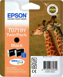 Epson T0711H Black Twin Pack (C13T07114H)