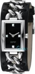 Esprit Rough Chic Black Dial and Leather strap ES102612001