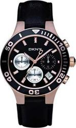 DKNY Rose Gold Black Strap NY4995