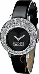 Moschino Crystal Black Leather Strap MW0047