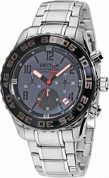 Sector Mens Watch Pilot Master Chronograph Stainless Steel Bracelet R3273679025