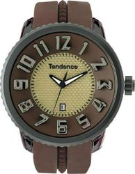 Tendence Round Gulliver Brown Rubber Strap 02043017