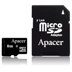 Apacer microSDHC 8GB Class 4 with Adapter