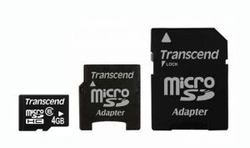 Transcend microSDHC 4GB Class 6 with Adapter