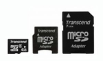 Transcend microSDHC class 6 card 4GB with Adapter