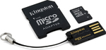 Kingston microSDHC 32GB Class 10 with Adapter and USB CardReader