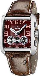 Festina 3-Eye Chronograph Brown Leather - F162947