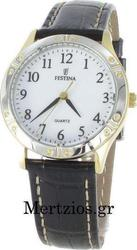 Festina Classic Ladies Black Leather Strap F163731