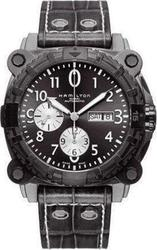Hamilton Khaki BelowZero Automatic Chronograph Grey Leather Stra - H78696393