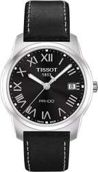 Tissot T-Classic PR100 Black Leather Strap T049.410.16.053.01