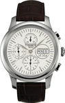 Tissot T-Classic LeLocle Valjoux Automatic Brown Leather Chronograph T41131731