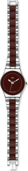 Swatch Brown Ceramic Stainless Steel Bracelet YLS163G