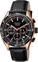 Esprit Mens Gran Orbus Black Leather Strap ES102861007