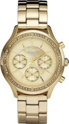 DKNY Chronograph Crystal Gold Stainless Steel Bracelet NY8252