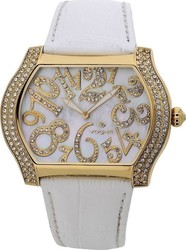 Vogue Crystal Ladies White Leather Strap 155041G