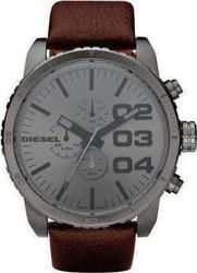 Diesel Oversized Chronograph Brown Leather Strap DZ4210