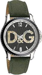 Dolce & Gabbana D&G Sestriere Gents Green Leather Strap - DW0705