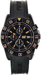 CAT DP Sport Chronograph Black Rubber Strap PM16321134