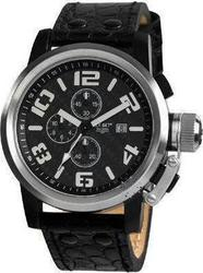 Jet Set San Remo Chronograph Black Leather Strap R35581237