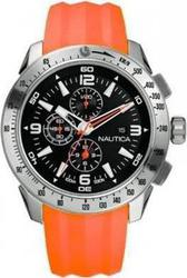 Nautica NST-05 Chronograph Orange Rubber Strap A17568G1