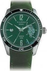 U.S. Polo Assn. Green Leather Date USP1004GR