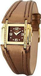 Elysee Quartz Vestia Brown Leather Strap 33009